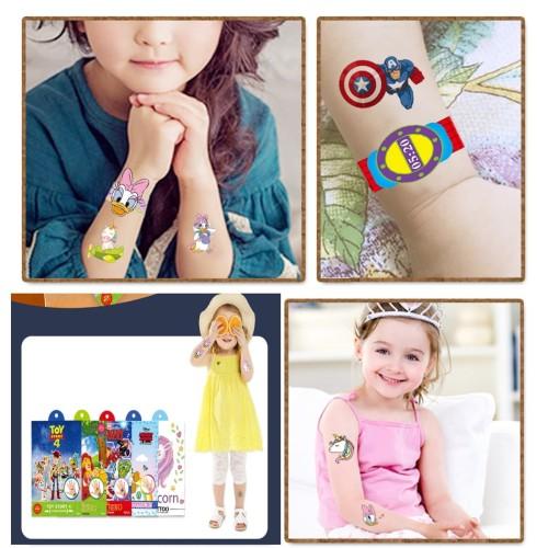 Foto Produk Mainan tato anak, Mainan tattoo kartun lucu anak - Superhero dari Lovely Gubuk