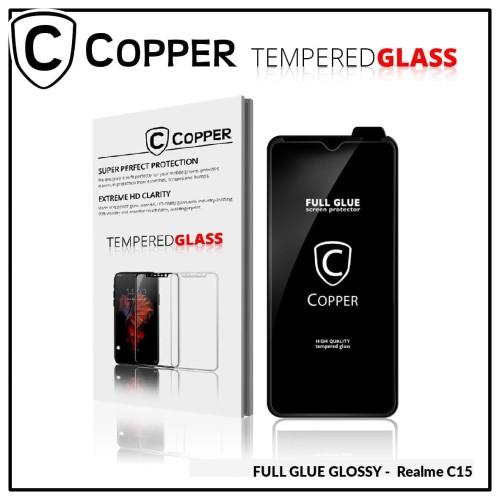 Foto Produk Realme C15 - COPPER Tempered Glass FULL GLUE PREMIUM GLOSSY dari Copper Indonesia
