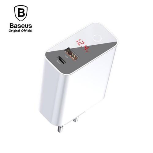 Foto Produk BASEUS Adaptor Charger Speed PPS PUTIH Smart Shutdown 45W TYPE C USB dari Baseus Original Official