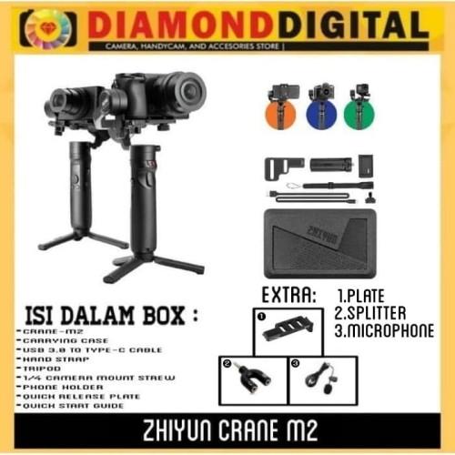 Foto Produk Zhiyun Crane M2 3-Axis Gimbal Stabilizer - Zhiyun Crane M 2 - Crane M2 - Unit Only dari Diamond Digital88