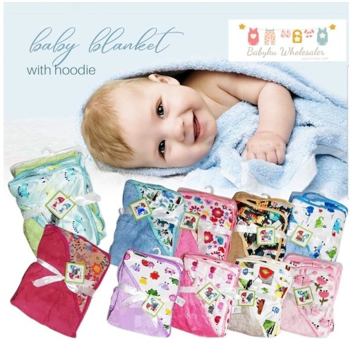 Foto Produk selimut bayi topi carter double fleece / selimut topi carter - kode A dari BABYKU WHOLESALER
