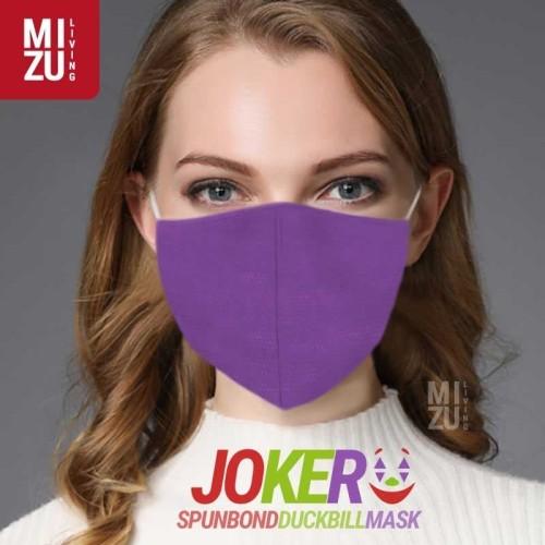 Foto Produk JOKER 4in1 Spunbond Duckbill Mask 3 Ply Masker Spunbond NON-MEDIS Cuci - 4MIX ungu merah dari MIZU Living