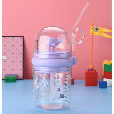 Foto Produk Botol Minum Anak Childrens Pot Karakter Ikan Paus Spray Sedotan B819 - Ungu dari TOPSOUL 1