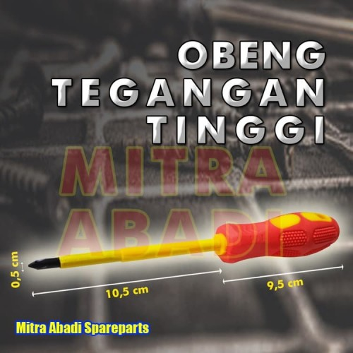 Foto Produk High Voltage Insulation Screwdriver Resistance OBENG TEGANGAN TINGGI dari Mitra Abadi Spareparts