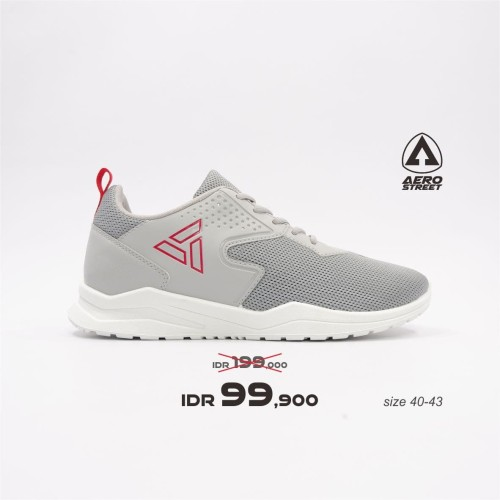 Foto Produk Aerostreet 40-43 Delta Abu Muda - Sepatu Sneakers Casual Sport Sekolah - 41 dari Aerostreet