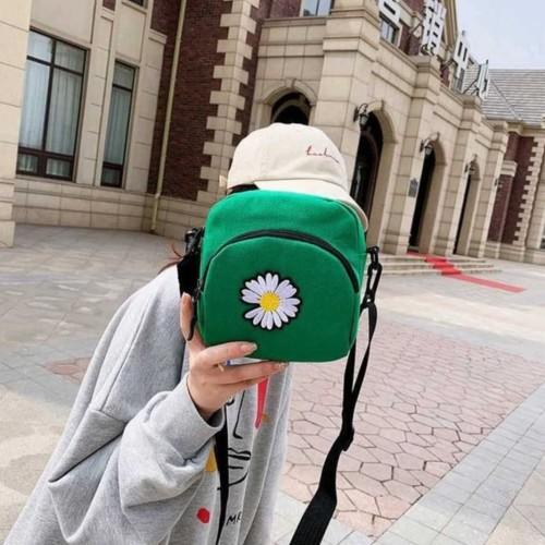 Foto Produk TS132 Tas Selempang Korea Mini Daisy flower Sling Bag - Hijau dari EnnWen Online Store