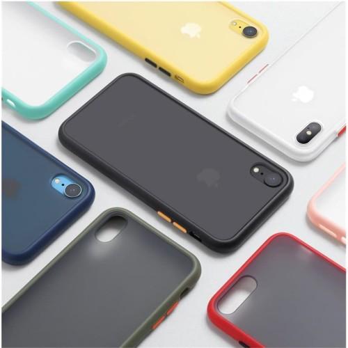 Foto Produk Iphone 6 7 7+ 8+ X Xs Max 11 Pro 11 Pro Case Skin Feel Matte - IPHONE 7 PLUS, HIJAU MUDA dari Jagonya Case