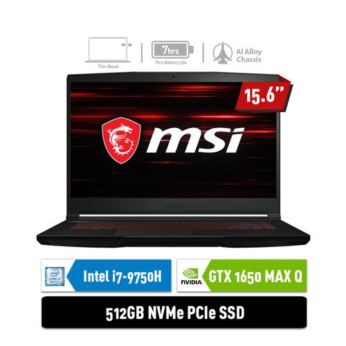 Foto Produk LAPTOP MSI GF63 9SCXR [9S7-16R412-837] i7-9750H 8GB 512GB GTX1650 4GB dari MSI Official Store