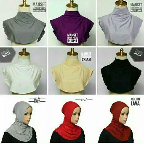 Foto Produk Inner leher, Daleman leher, Tutup dada, Inner dada - Hitam dari syafany hijab official