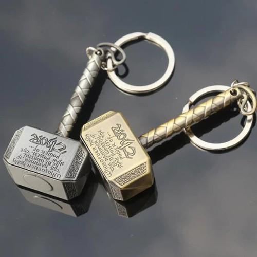 Foto Produk Gantungan Kunci Marvel Mjolnir Thor Gantungan Kunci Mobil Motor Rumah - Gold dari toys village