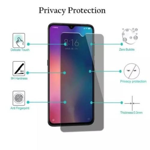 Foto Produk ANTI GORES TEMPERED GLASS ANTI SPY PRIVACY OPPO REALME X2 XT RENO 3 dari Platinum mobile phone