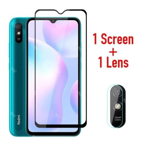 Foto Produk Tempered Glass Redmi 9A Paket Anti Gores Layar dan Kamera Belakang dari AstoriaStore