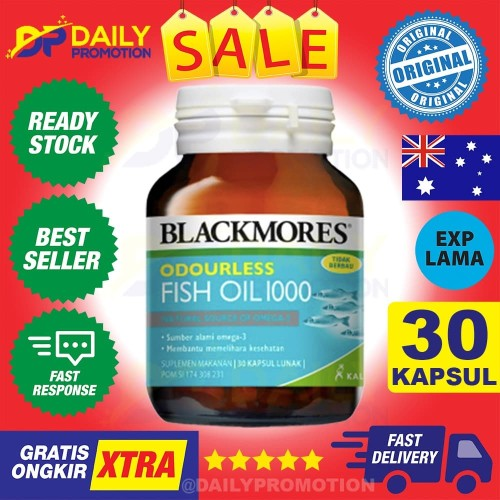 Foto Produk BLACKMORES ODOURLESS FISH OIL OMEGA 3 1000MG 1000 MG KALBE - 30 KAPSUL dari DAILY PROMOTION