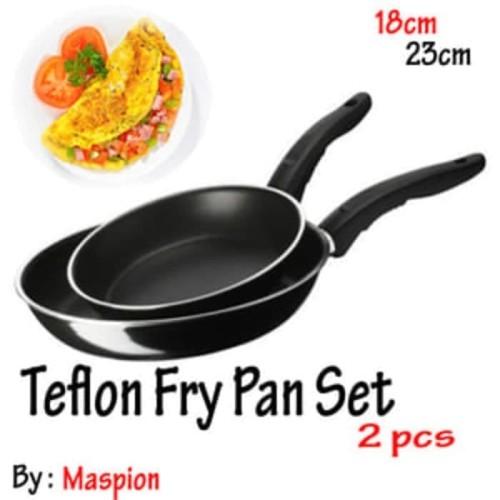 Foto Produk Teflon Set / Frypan Set / 2pcs Fry Pans 18cm & 23cm dari AnerStore