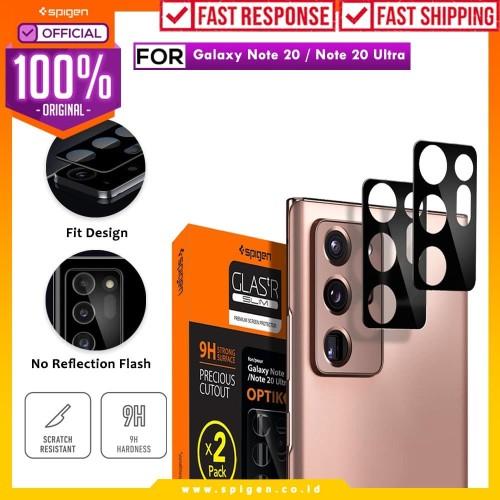 Foto Produk Camera Tempered Glass Samsung Galaxy Note 20/Ultra Spigen Glas tR Slim - Note 20 dari Spigen Official