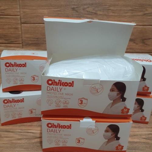 Foto Produk Masker 3ply Medis isi 50 Putih Disposable Mask 3 ply Earloop Tebal - Putih dari Juna Bookstore