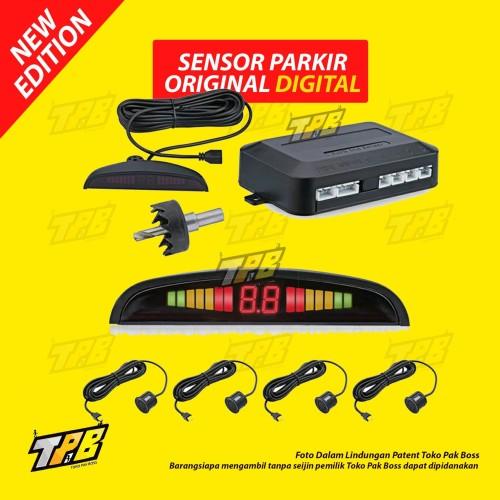 Foto Produk Sensor Parkir Mundur 4 Titik Mata Audio Suara LCD Display Mobil dari TOKO PAK BOSS