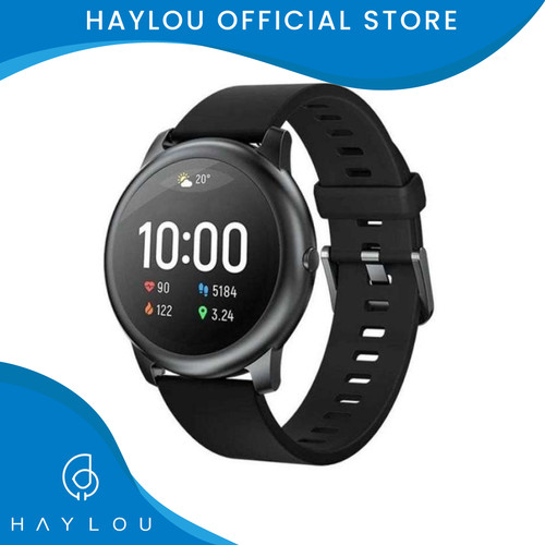 Foto Produk Haylou Solar 1.28 inch TFT Touch Screen Smartwatch LS05 IP68 -English - Hitam dari Haylou official store
