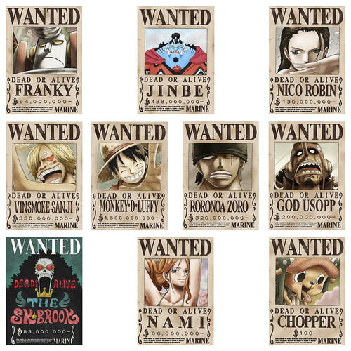 Foto Produk Poster Bounty Wanted Manga Anime One Piece (Mugiwara/Straw Hat Set) - Doff dari LapakUnik!