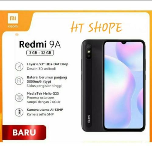 Foto Produk HP Redmi 9A 3/32 Garansi Resmi TAM - Random dari HT SHOPE