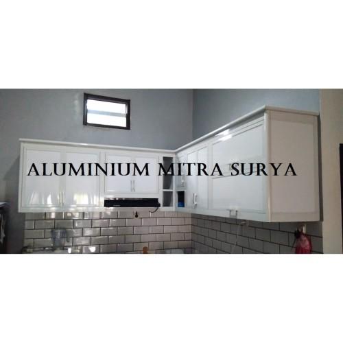 Jual Rak Lemari Gantung Dinding Kabinet Dapur Kitchen Set Aluminium Pintu Kota Tangerang Aluminium Mitra Surya Tokopedia