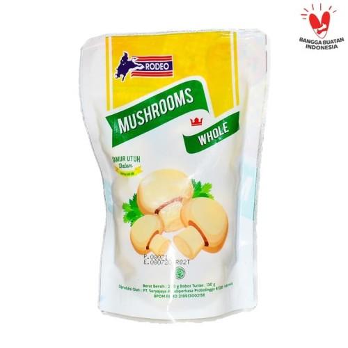 Foto Produk RODEO Mushroom In Brine Whole/Jamur Kancing Utuh 250g (Standing Pouch) dari Cip Official Store
