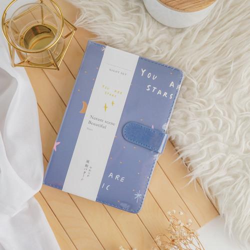Foto Produk UCHII GIDAI Journal Book Agenda Planner | Buku Catatan Memo Full Color - Blue Star dari uchii store
