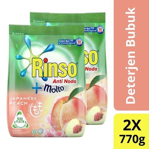 Foto Produk Rinso Molto Detergen Bubuk Japanese Peach 770G isi 2 dari Unilever Official Store