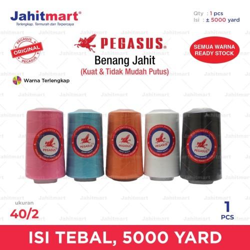 Foto Produk BENANG JAHIT BESAR 5.000 YARD MERK PEGASSUS dari jahitmart