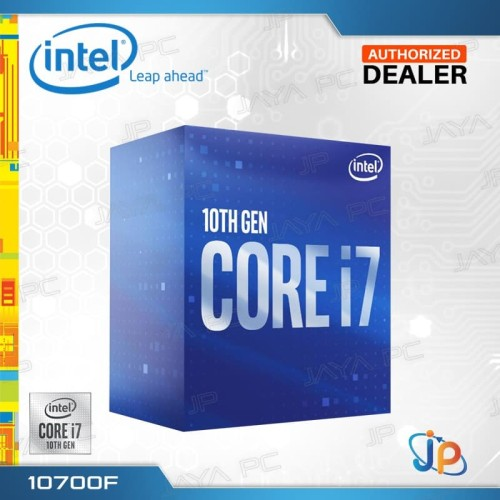Foto Produk Processor Intel Core I7 10700F Box Comet Lake Socket LGA 1200 dari Jaya PC