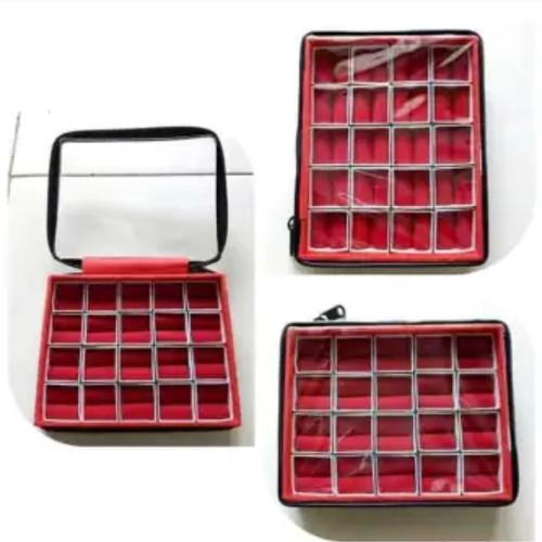 Foto Produk Kotak cincin batu akik isi 20pcs resleting transparan dari HADE GEMS STONES