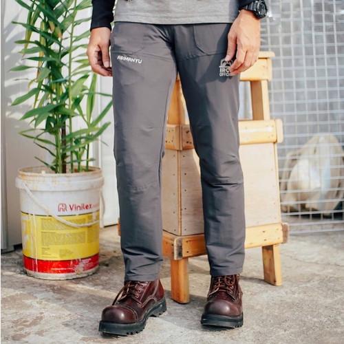 Foto Produk Celana Gunung Waterproof - Celana Hiking Quickdry - Outdoor Long Pants - Abu-abu, L dari Travelonest