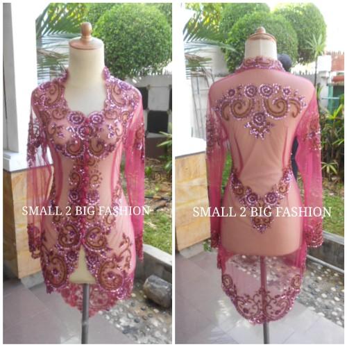 Foto Produk kebaya dusty pink / atasan kebaya panjang nikah / kebaya wisuda pink dari Small 2 Big Fashion