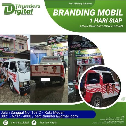 Jual Sticker Branding Mobil Kampanye Branding Mobil Branding Car Murah Kota Medan Thunders Digital Printing Tokopedia