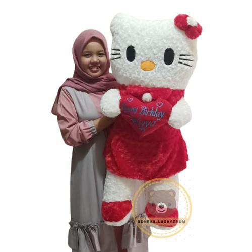 Foto Produk boneka hello kitty jumbo uk 1meter ukir nama - Merah dari luckyzhum toys
