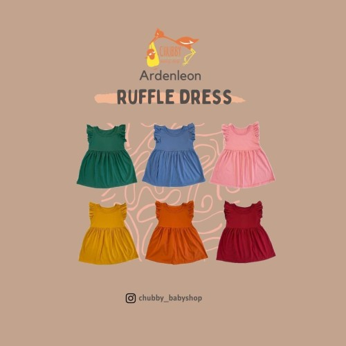 Foto Produk Ardenleon - Dress Ruffle - XTRA LARGE, PINE GREEN dari Chubby Baby Shop
