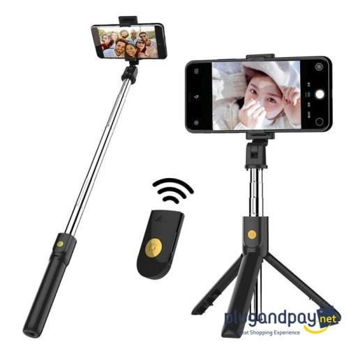 Foto Produk Tongsis Monopod Tripod Smartphone Handphone dengan Bluetooth Shutter dari plugandpay