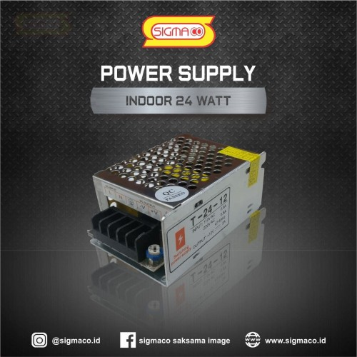 Foto Produk Power Supply Indoor 12V 24W 2A - 12 Volt 24 Watt 2 Ampere - Garansi 1 dari pt.sigmaco