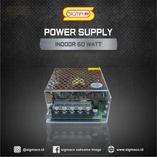 Foto Produk Jual Power Supply Indoor 12V 60W 5A Termurah dan Garansi 1 Tahun dari pt.sigmaco