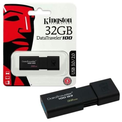 Foto Produk Flashdisk Kingston DT100G3 32gb 32 gb DT 100G3 DT 100 G3 USB 3.0 dari PojokITcom Pusat IT Comp