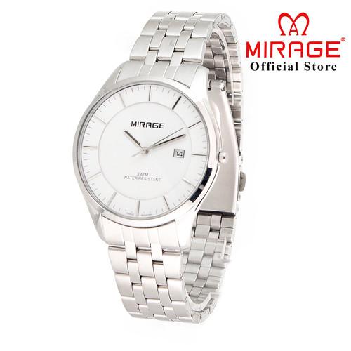 Foto Produk Original Mirage Jam Tangan Pria Elegant Tipis Silver 8544M pP dari Mirage Watch