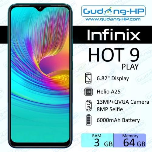Foto Produk Infinix Hot 9 Play 3/64 GB Garansi Resmi - Hitam dari Gudang-HP