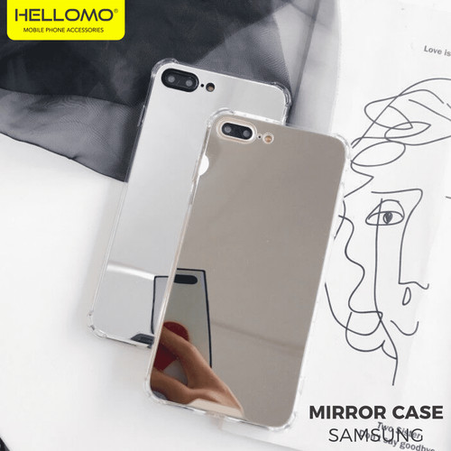 Foto Produk Anti Crack Casing Mirror Kaca Samsung / Anticrack Case Cermin Samsung - TULIS DI PESAN dari hellomo