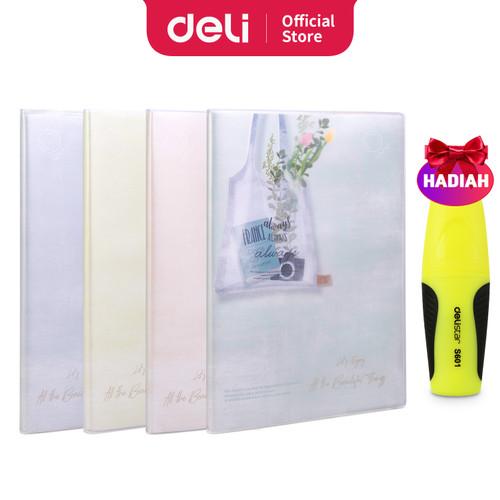 Foto Produk Deli Notebook B5 96 Lembar dengan pinggiran plastik T1696 - FLOWER dari Deli Stationery