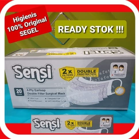 Foto Produk Masker SENSI 4 Ply Earloop Surgical Double Protection Bukan Duckbill dari TokoYafet