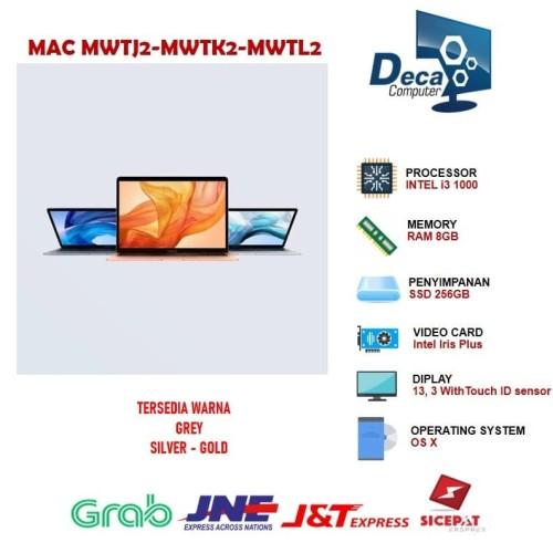 Foto Produk Apple MacBook Air MWTJ2 Touch ID 2020 13.3 256GB Core i3 RAM 8GB dari Deca Computer