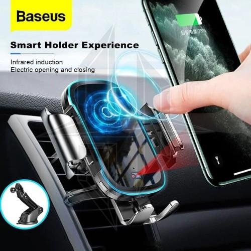 Foto Produk BASEUS 15W Light Electric Holder Wireless Charger Car Holder Charging dari HimTech