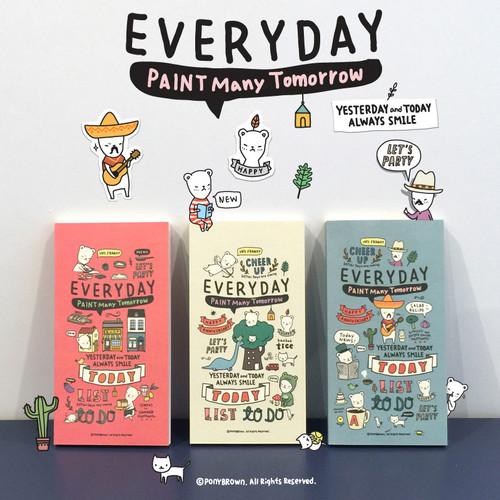 Foto Produk Paint Many Tomorrow Everyday Diary / Buku Catatan / Buku Harian - Coral dari Pinkabulous