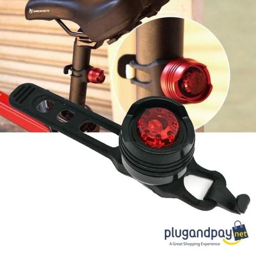 Foto Produk Lampu Belakang Sepeda Tail Light LED Seatpost Seat Post Saddle dari plugandpay