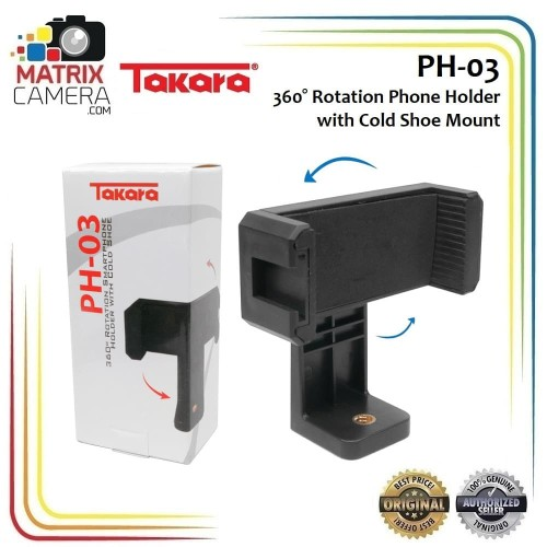 Foto Produk Takara PH-03 Mobile Phone Holder U Holder HP with Cold Shoe dari MatrixCamera